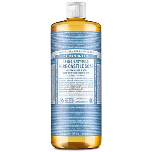Dr Bronner's Organic Baby Mild Liquid Soap - 946ml