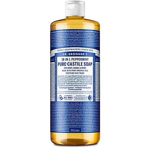 Dr Bronner's Organic Peppermint Liquid Soap - 946ml