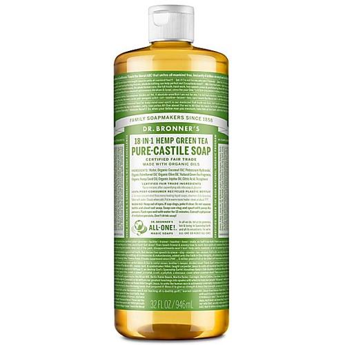 Dr Bronner's Organic Green Tea Liquid Soap - 946ml