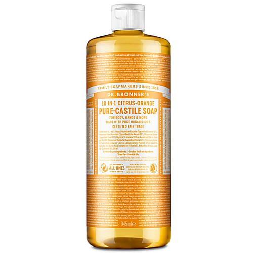 Dr Bronner's Organic Hemp Citrus-Orange Liquid Soap - 946ml