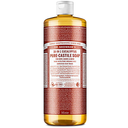 Dr Bronner's Organic Eucalyptus Liquid Soap - 946ml