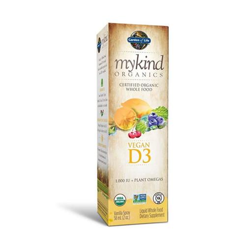 Garden of Life Mykind Organics Vegan D3 Vanilla Spray - 58ml