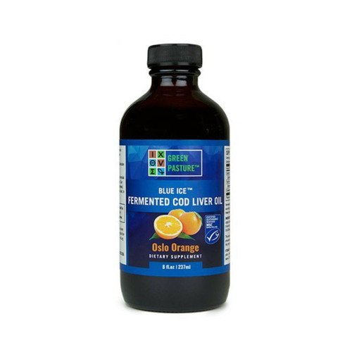 Green Pasture Blue Ice Fermented Cod Liver Oil / Oslo Orange - 237ml