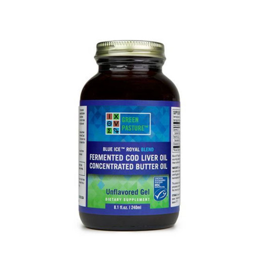 Green Pasture Blue Ice Royal Butter Oil & Fermented Cod Liver Oil Blend / Non Flavoured (Gel) 240ml