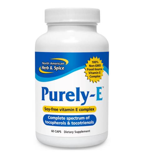 North American Herb & Spice Purely-E Raw Food Vitamin E - 60 capsules