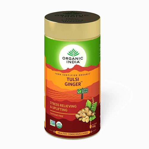 Organic India Loose Tulsi Ginger Tea - 100g