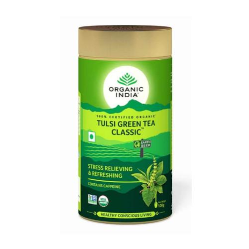 Organic India Loose Tulsi Green Tea - 100g