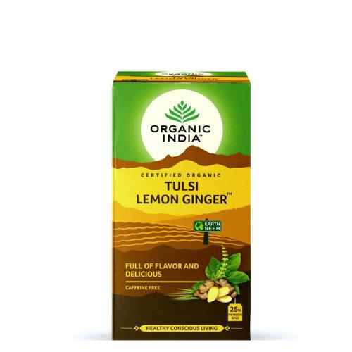 Organic India Tulsi Lemon Ginger Tea - 25 Teabags