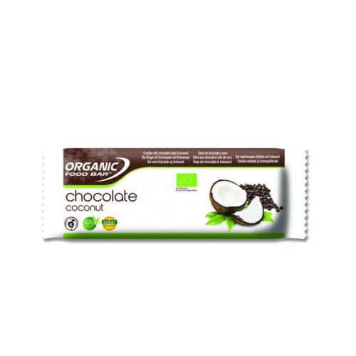 Organic Food Bar Chocolate Coconut Raw Bar - Single (50g)