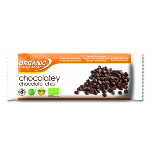 Organic Food Bar Chocolatey Chocolate Chip Raw Bar- Single (50g)