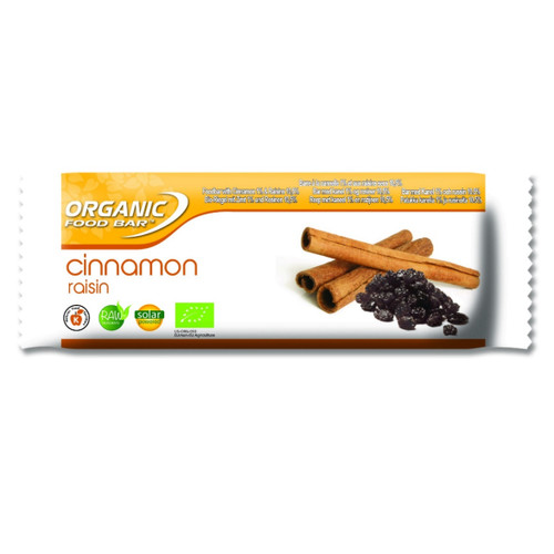Organic Food Bar Cinnamon Raisin Raw Bar - Single (50g)