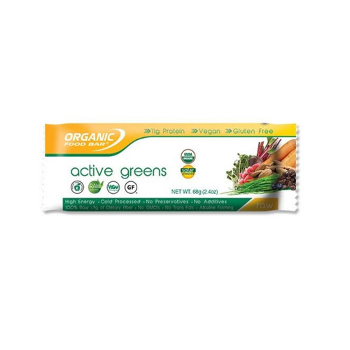 Organic Food Bar Active Greens Bars - Single (68g)