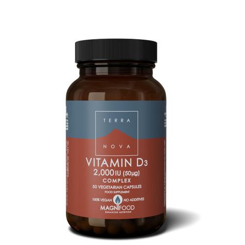 Terranova Vitamin D3 2000iu - 50 capsules