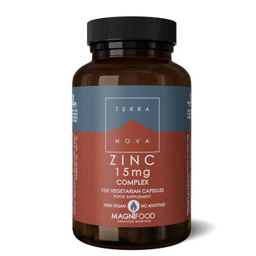 Terranova Zinc 15mg Complex - 100 veg capsules