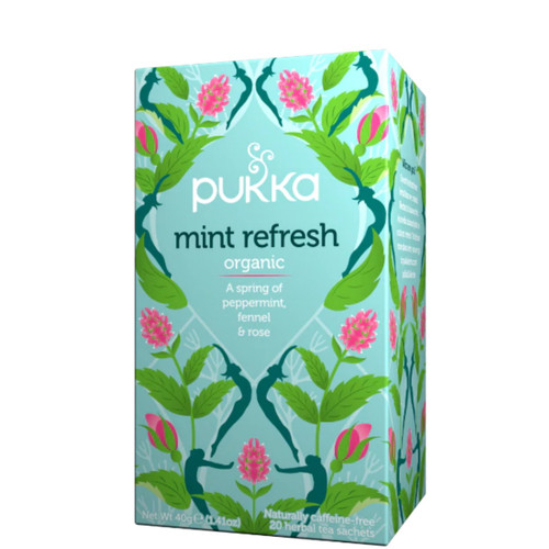 Pukka Mint Refresh Peppermint, Fennel & Rose Tea - 20 bags
