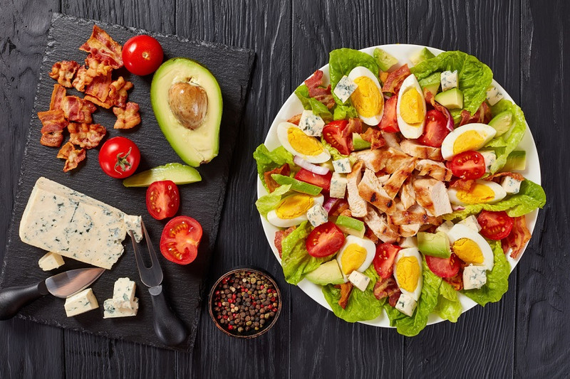 Our version of a Cobb Salad - tuck in!