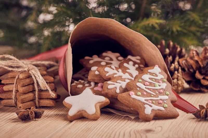 Vegan turmeric gingerbread man