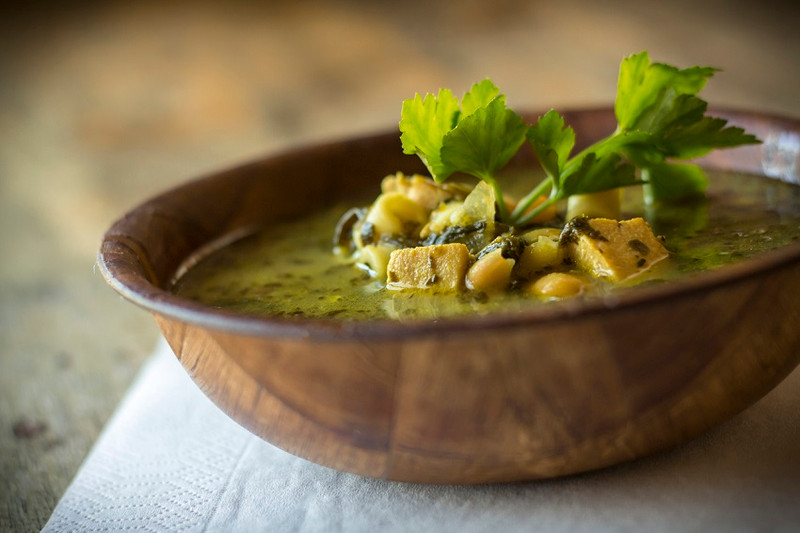 Super greens, nourishing soup