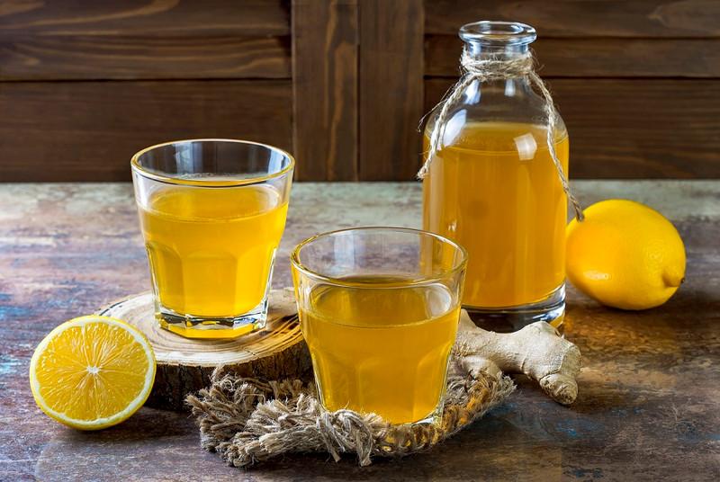 Matcha green tea kombucha