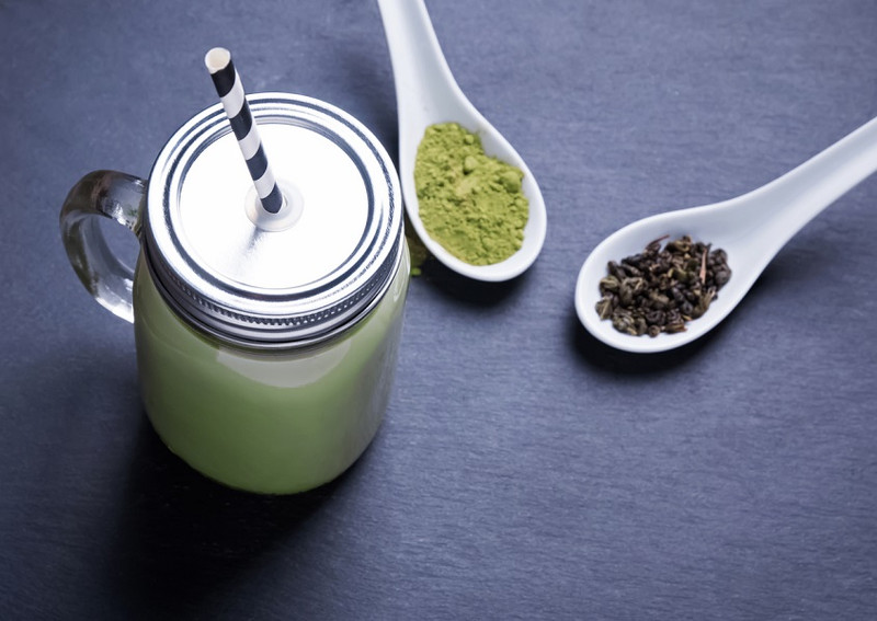 Matcha green tea smoothie… Post workout ideal