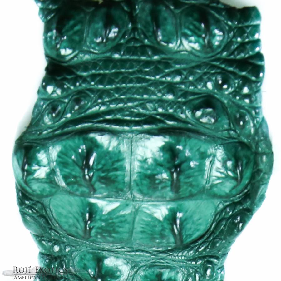 Nile Crocodile Backstrap - Jade Green