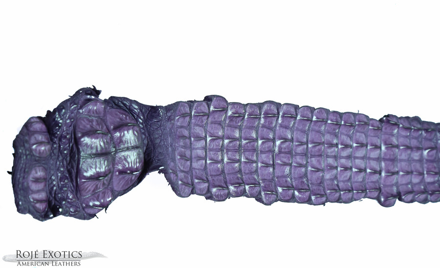 Nile Crocodile Backstrap - Purple