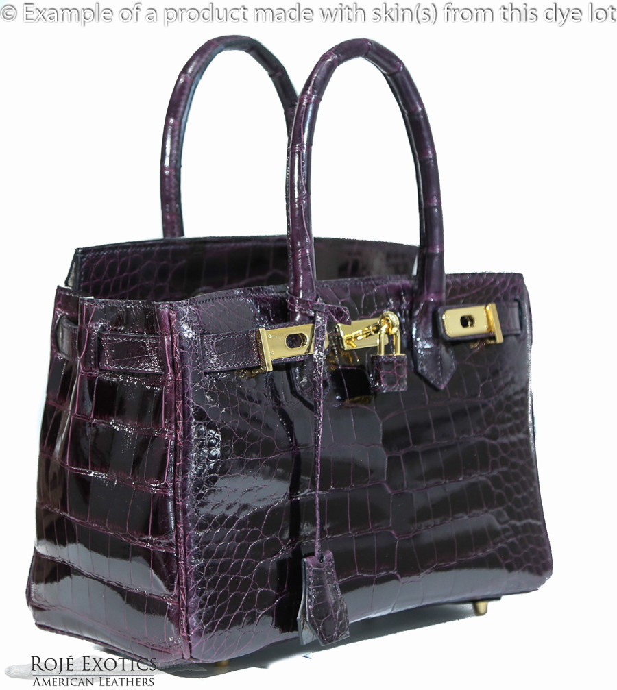 (2) 42cm skins and 22 artisan hours to hand craft this bag