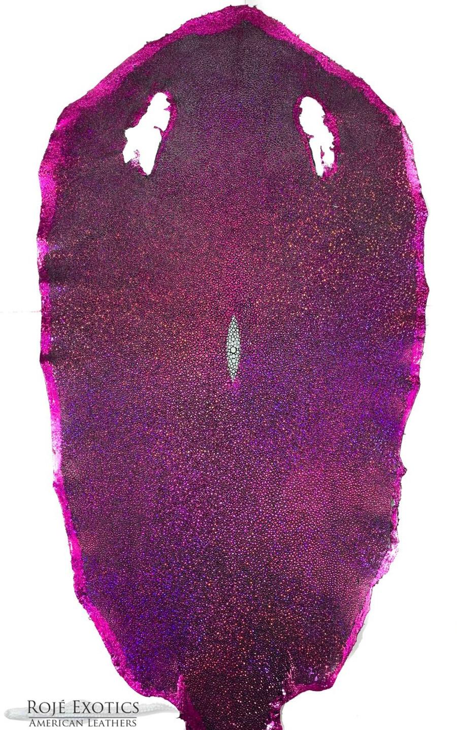 Stingray Skin - Hologram Finish -  Pink
