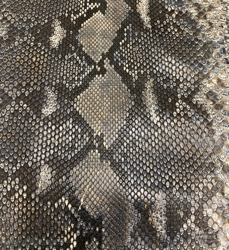 Python Front Cut Skin - Silver - Metallic