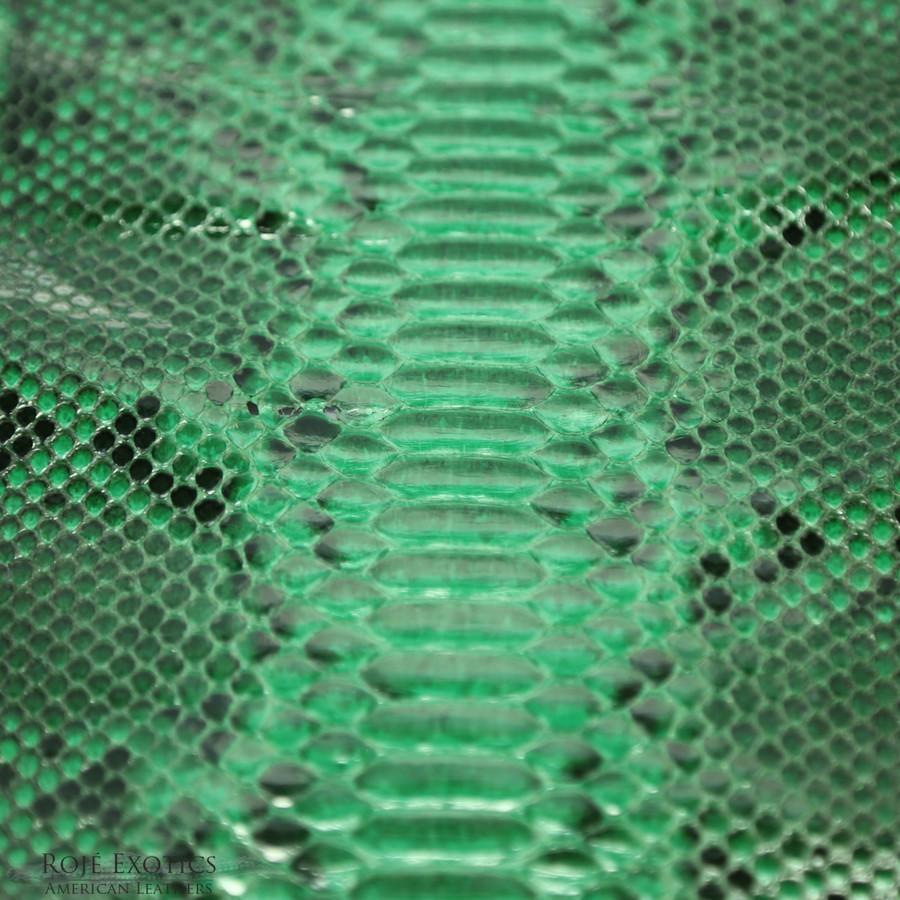 Python - Back Cut Skin - Unbleached  - Green -  Glazed