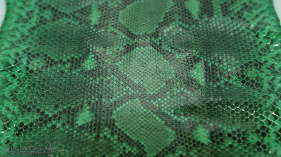 Python - Front Cut Skin - Unbleached  - Green -  Glazed