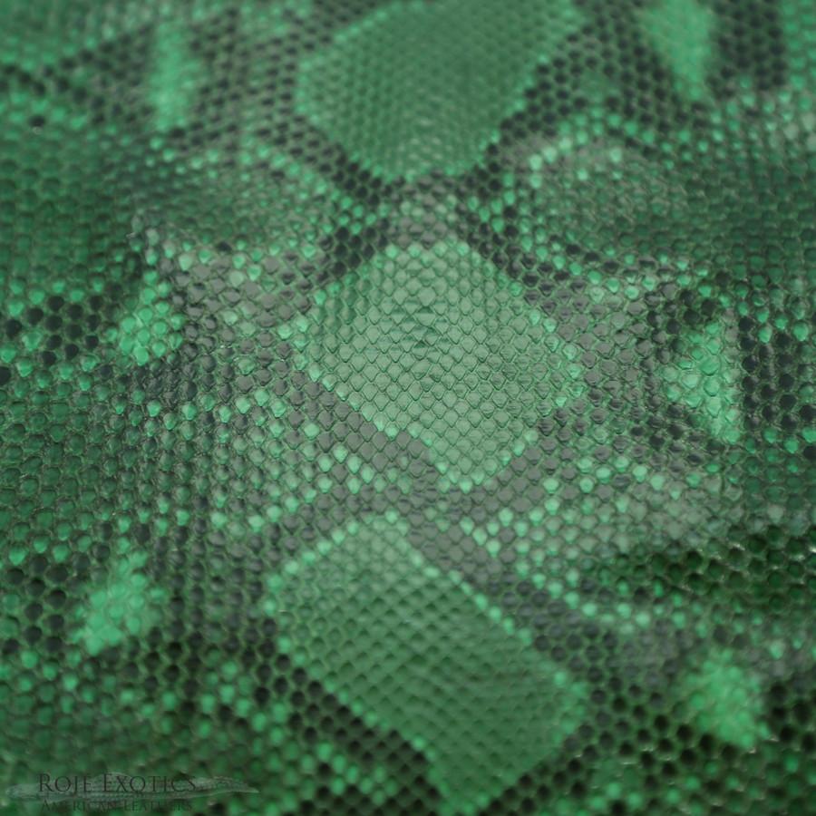 Python - Front Cut Skin - Unbleached  - Green -  Glazed