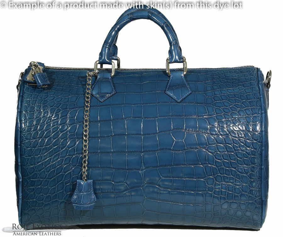 American Alligator - Belly - Denim Blue - Millennium
