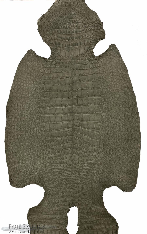 "American Alligator - Belly -  ""Suede"" - Steel Grey"