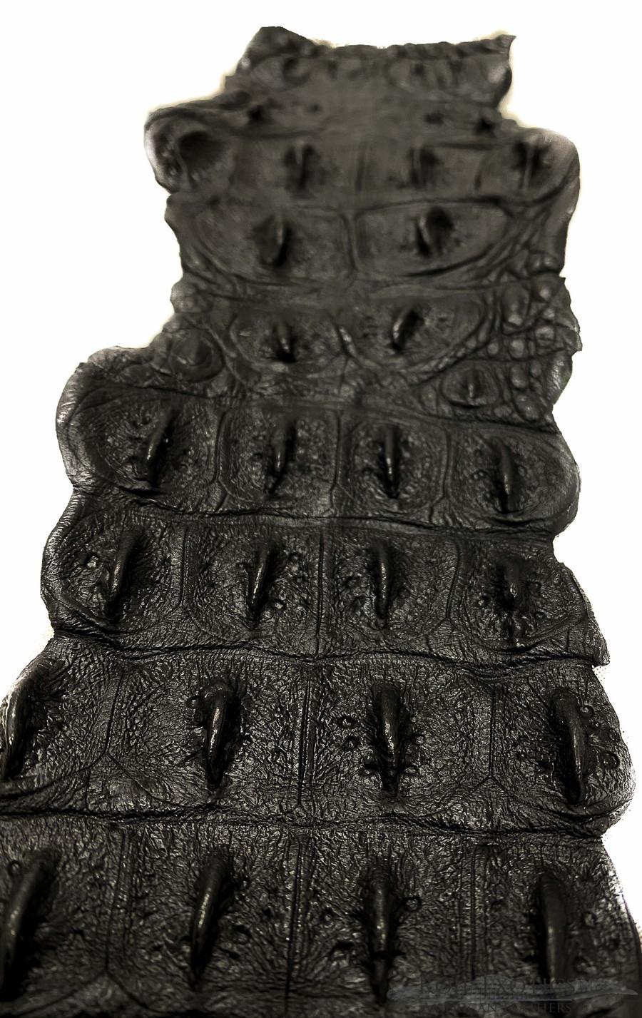 Nile Crocodile Backstrap - Dark Grey