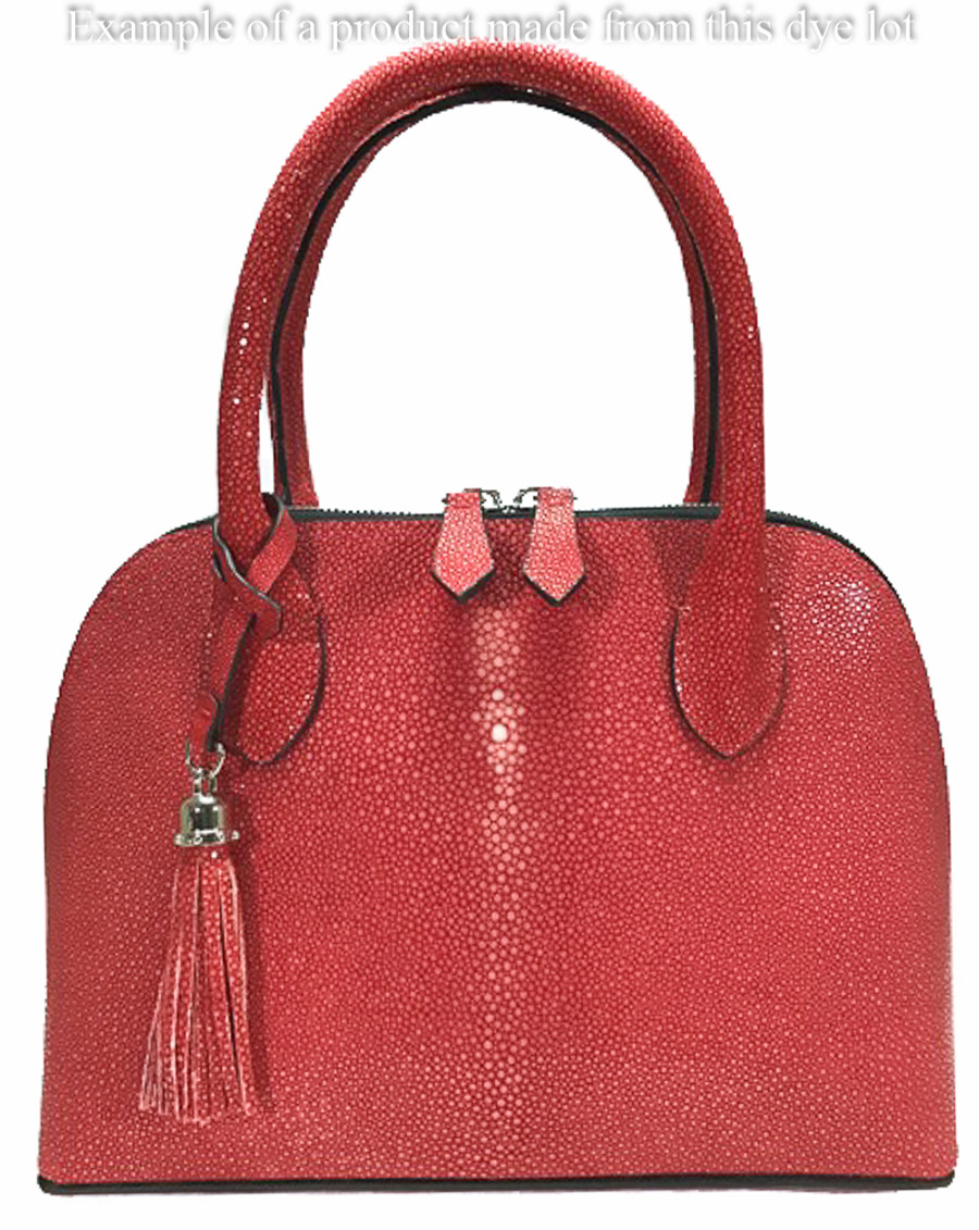 Stingray Skin - Polished (Shagreen) Red