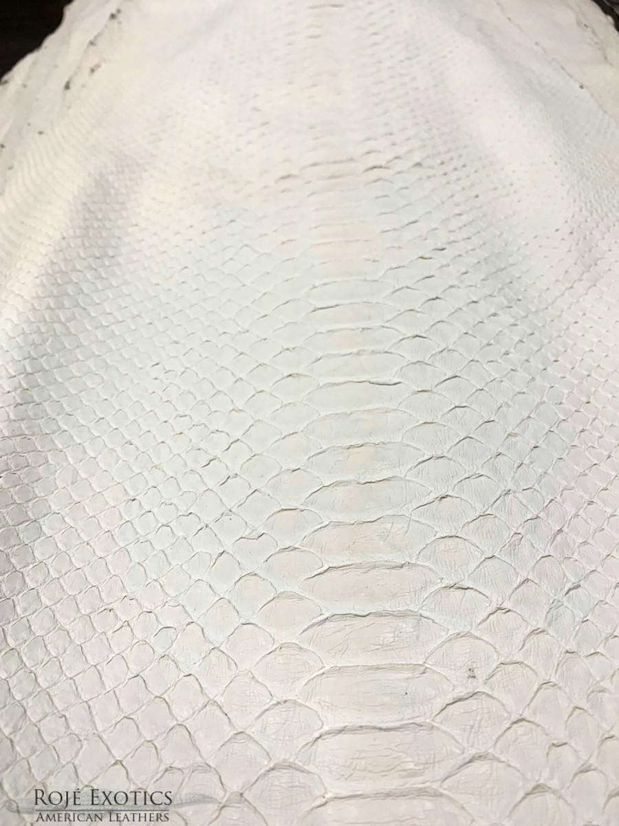 Python Back Cut Skin - White -  Matte