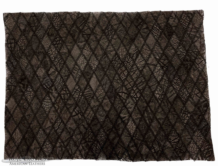 Elephant - Diamond Stitched Plate - Black Matte (16 x 22 in.)