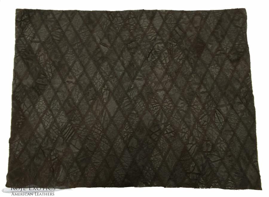 Elephant - Diamond Stitched Plate - Chocolate (16 x 22 in.)