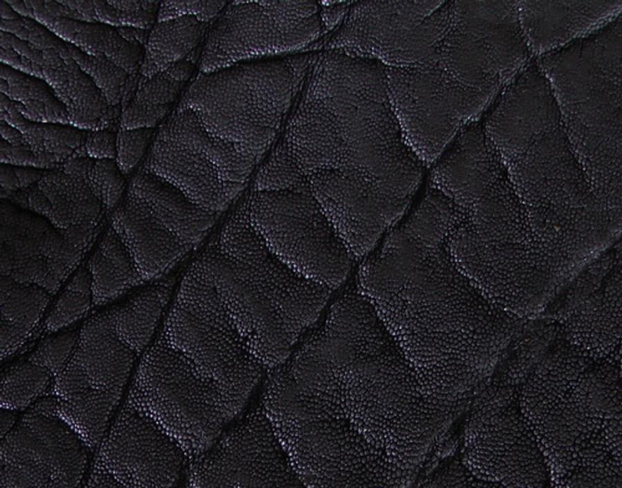 Genuine Elephant Skin - Matte Finish in Black