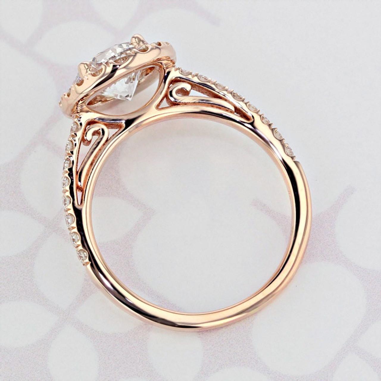 Gabriel Ny Halo Round Shape Lab Diamond Engagement Ring 2006214