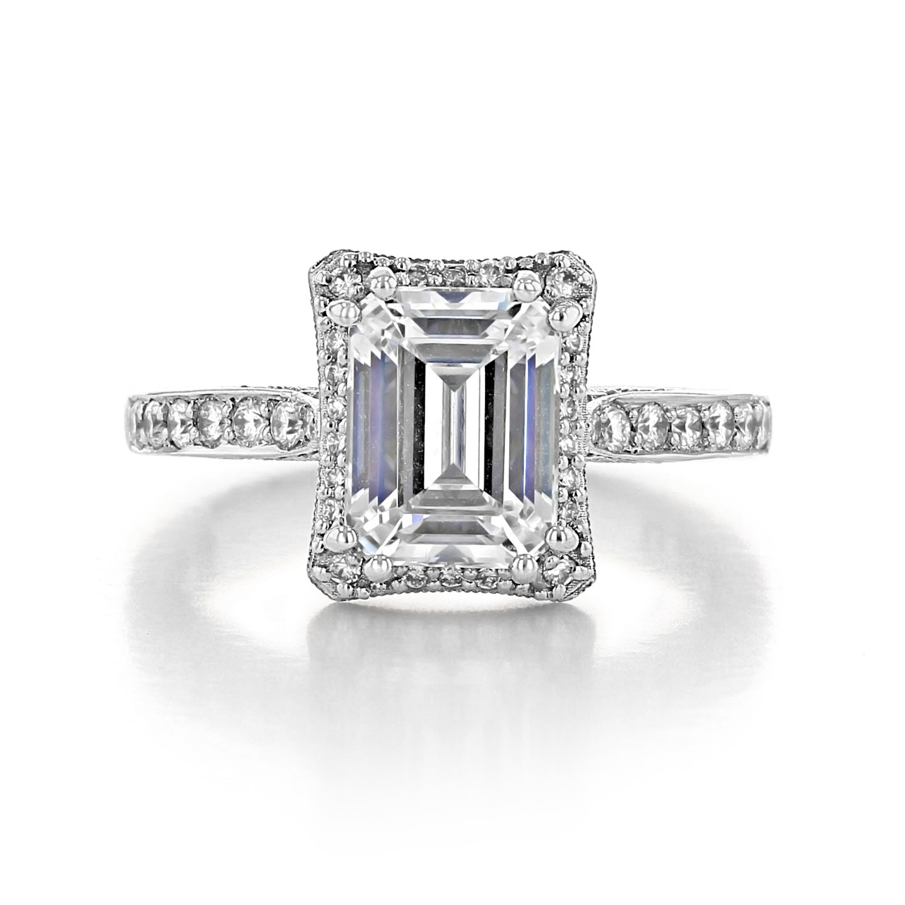 Tacori Dantela 1 50 Ct Platinum Engagement Ring 2620ecmdp
