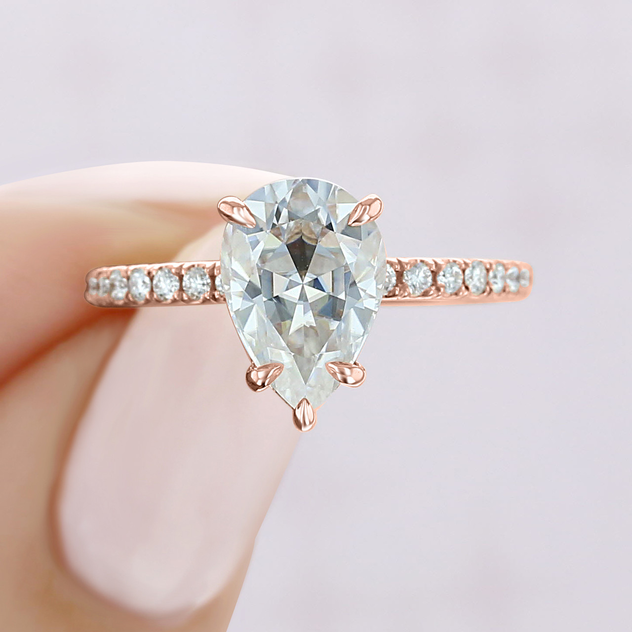 Rose Gold Engagement Ring Cr199 M Icing On The Ring