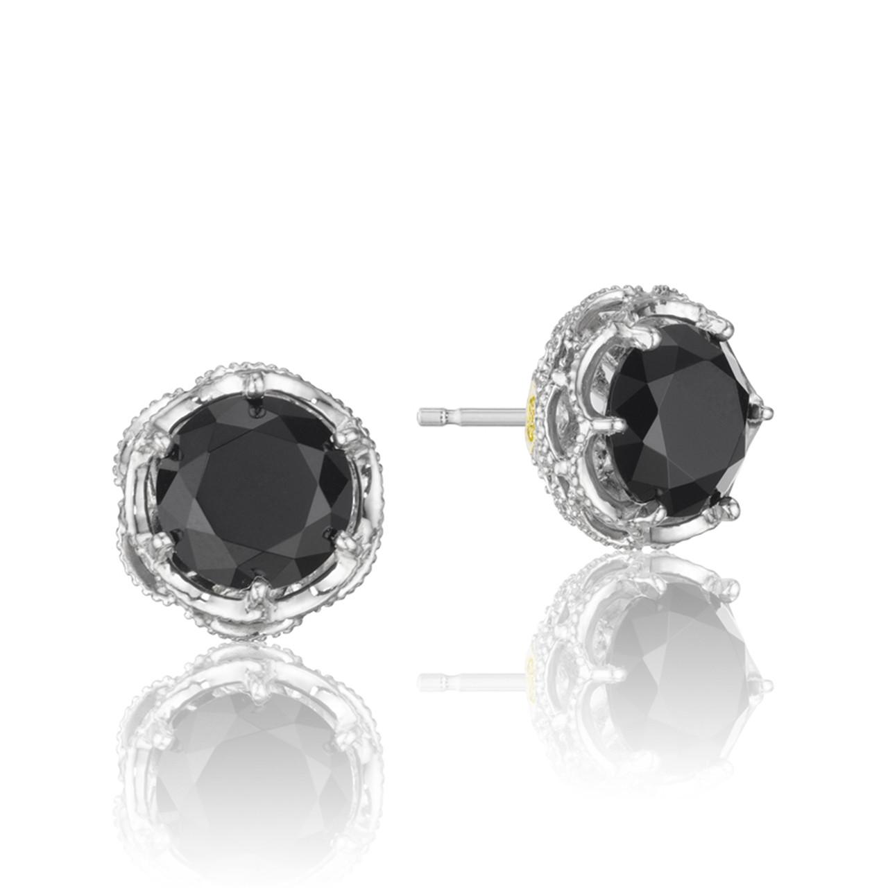 57c0fecba7da5 Crescent Crown Black Onyx Fashion Earrings (SE10519)