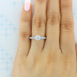 .75 ct Round Gabriel Pavé White Gold Engagement Ring (GC31)