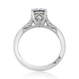1.00 Ct. Round Moissanite Platinum Tacori Dantela Solitaire Engagement Ring (2638RD65-M)