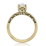 1.50 Ct. Pear Shape Moissanite Tacori Coastal Crescent Yellow Gold Engagement Ring (P104PS9X6FY-M)