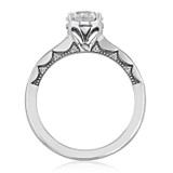 1.00 Ct. Round Moissanite Tacori Coastal Crescent Engagement Ring (P102RD65FW-M)