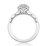 .80 Ct. Round Moissanite Tacori Halo Coastal Crescent Engagement Ring (P103CU6FW-M)