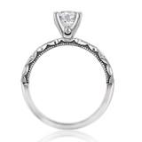 1.00 Ct. Round Moissanite Platinum Tacori Sculpted Crescent Engagement Ring (46-2RD65-M)